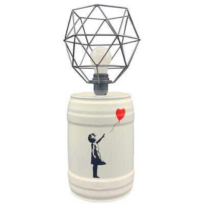 Cdrik, 'BARREL LAMP BANKSY', 2021