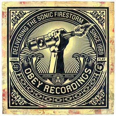 Shepard Fairey (OBEY), 'Sonic Firestorm', 2013