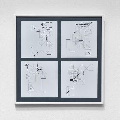Manfred Mohr, 'P-018-mf_13, 16, 18, 19', 1969