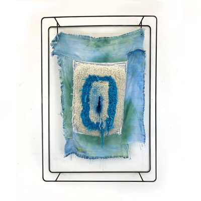Judy Rushin-Knopf, 'Textile sculpture on Steel frame: 'Collar'', 2021