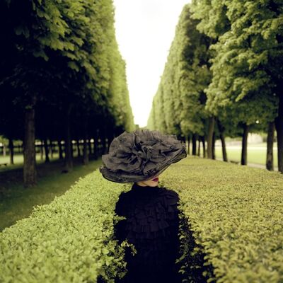 Rodney Smith, 'Woman with Hat Between Hedges, France', 2004