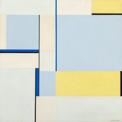 Ilya Bolotowsky, 'Square in Three Blues (79-109)', 1979