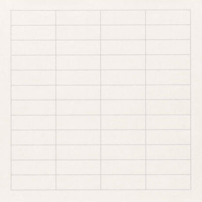 Agnes Martin, 'On a Clear Day #09', 1973