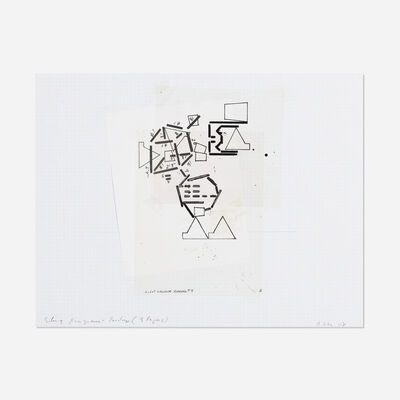 Barry Le Va, 'Silent Diagram Reading (3 layers) #9', 2008