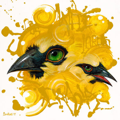 Greg 'Craola' Simkins, 'It Starts with Yellow', 2017