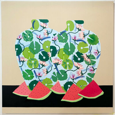 Stephen D'Onofrio, 'Still Life Watermelon & Waterlily', 2019