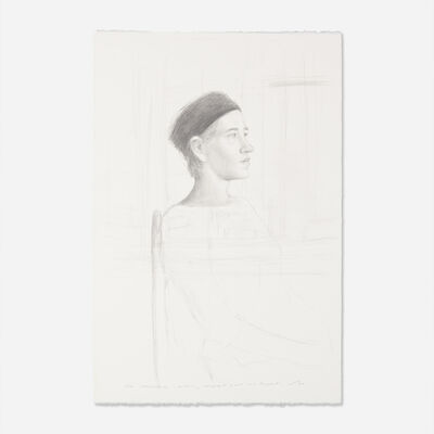 Bo Bartlett, 'Untitled (Melonie in Black Hat) (double sided)'