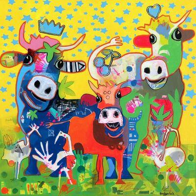 Fredi Gertsch, 'Yellow Carnival', 2019