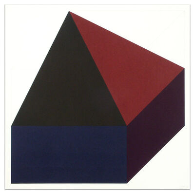 Sol LeWitt, 'Forms Derived from a Cube (Colors Superimposed), Plate #10', 1991