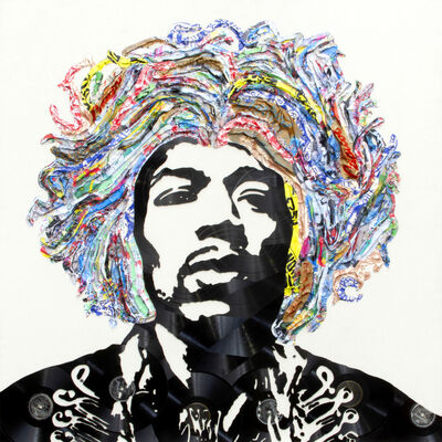 Mr. Brainwash, 'Jimi Hendrix', 2019