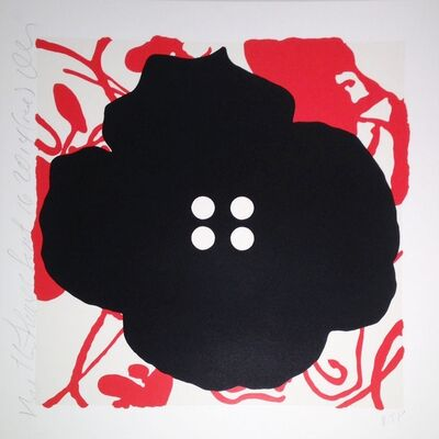 Donald Sultan, 'Button Flower, Red, Sept. 16, 2014', 2014