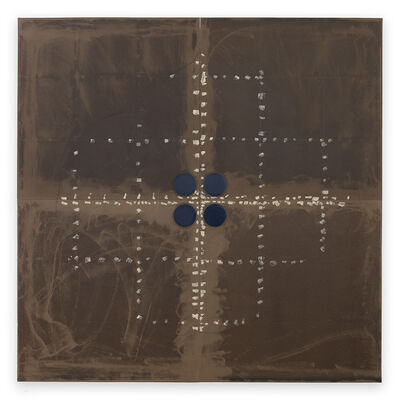 Donald Sultan, 'Cross Button June 30 2015', 2015