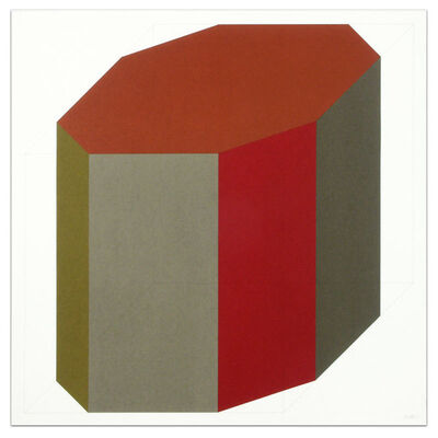 Sol LeWitt, 'Forms Derived From a Cube (Colors Superimposed), Plate #08', 1991