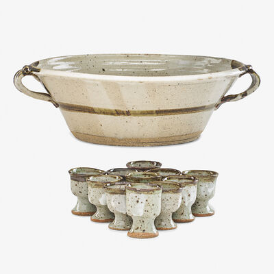 Betty Woodman, 'Punch bowl with eleven cups, USA'