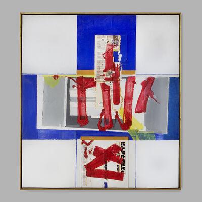 Fernando García Ponce, 'Mancha roja sobre composición azul No. 2', 1979