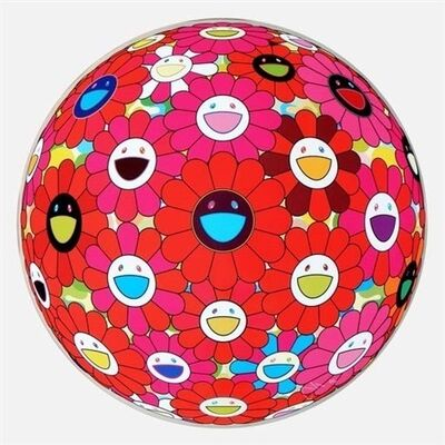 Takashi Murakami, 'Flower Ball (3D) Blue, Red', 2013