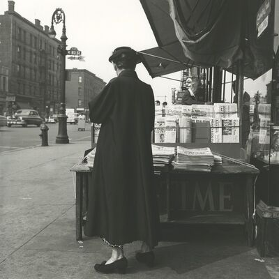 Vivian Maier, '0125684 - New York, NY, June 12, 1954, Time Magazine Stand', Printed 2017