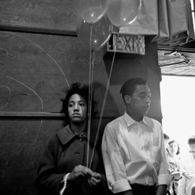 Vivian Maier, '0115806- Couple with Balloons', 2014