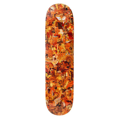 Vik Muniz, 'Eight Color Spectrum Orange Skateboard Deck', 2019