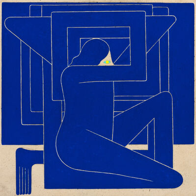 Richard Colman, 'Untitled, (Blue Figure, Yellow Eye)', 2018