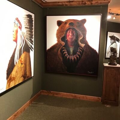 Native Spirit - Two Voices: Robert Duncan & Greg Overton, installation view