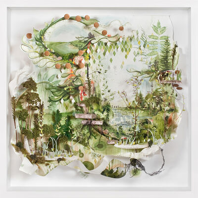"Gregory Euclide, '""All of Your Diamonds Slipped Green Points Into the Ease of Not Knowing""', 2012"