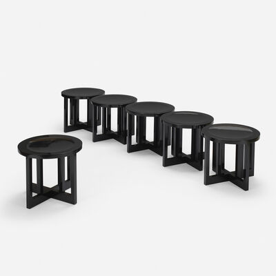 Richard Meier, 'Low Stools model 820Y, set of six', 1982