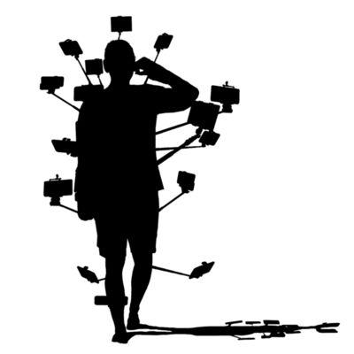 Kenny Schachter, 'Selfie-Man Silhouette', 2019