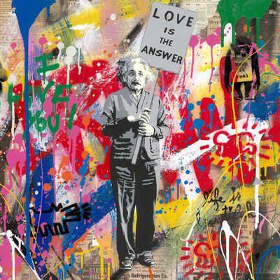Mr. Brainwash, 'Einstein - Love Is The Answer', 2019