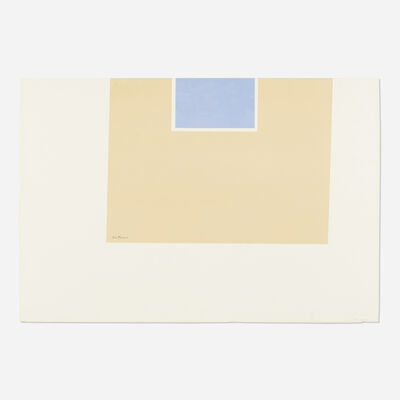 Robert Motherwell, 'Untitled (Yellow/Blue) (from London Series II)', 1970-71