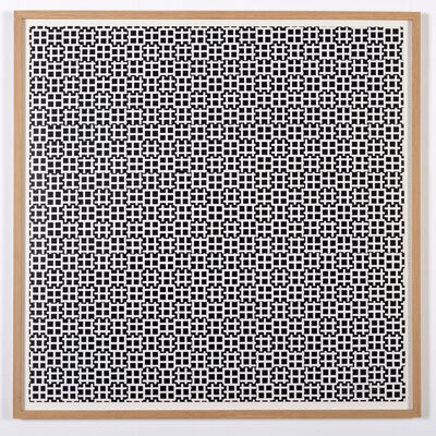 François Morellet, '2 trames de tirets 0°-90°. Négatif', 1965