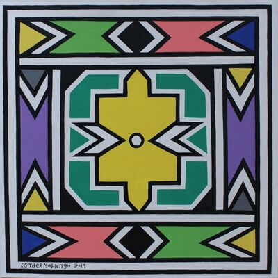 Esther Mahlangu, 'Ndebele Abstract - C001713', 2019