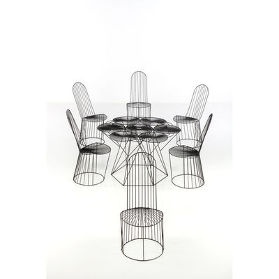 John Risley, 'Set Of A Table And Six Chairs', 1969