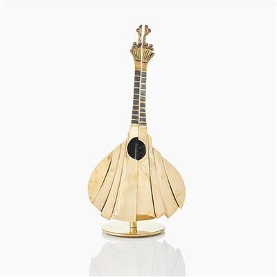 Arman, 'Mandoline Coupe de guitare portugaise, patiné doré et noir, bronze soudé', 2003