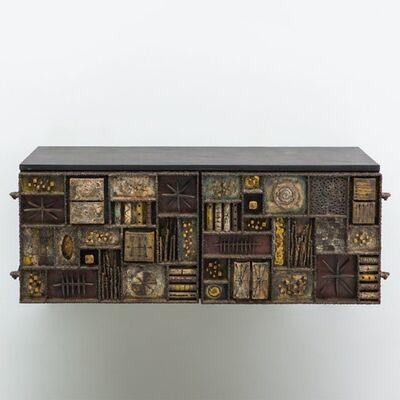 Paul Evans (1931-1987), 'Forged Front Wall Mounted Console', 1970
