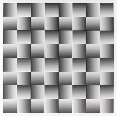 Getulio Alviani, 'Testura Grafica ad inclinazione diagonale', 1972