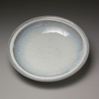 Munakata Ryoichi VII, 'Large, deep plate with pale blue ash glaze,', 1986