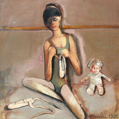 Sergio Vacchi, 'Ballerina assorta', 1990