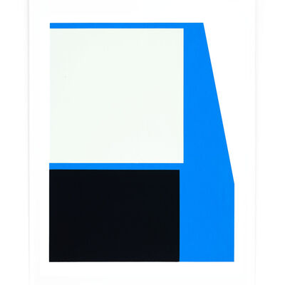 Johan Van Oeckel, 'Untitled (Blue, black and light grey)', 2019