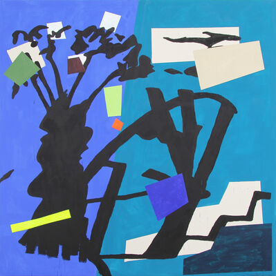 Bruce McLean, 'Shade Painting: Blue', 2016