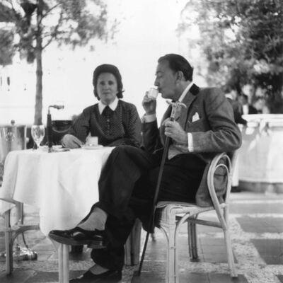Slim Aarons, 'Dali And Gala at the Ritz, Madrid (Aarons Estate Print)', 1955