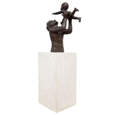 Victor Salmones, 'Huge Bronze and Marble Sculpture FIRST BORN Mexican Modernist', 20th Century