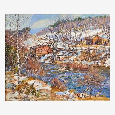 George Gardner Symons, 'Snowscape in Shelburne Falls'