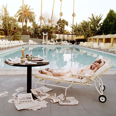 Terry O'Neill, 'Faye Dunaway Oscar (Lying Down)', 1977