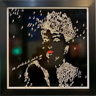 Efraim Mashiah, 'Audrey Hepburn - Black Background', 2019