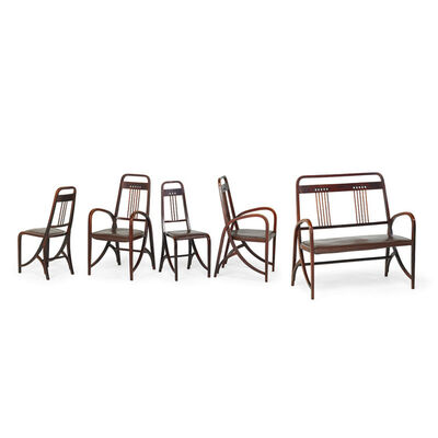 Thonet, 'Two armchairs, two side chairs and bench, model no. 511, Austria', early 1900s