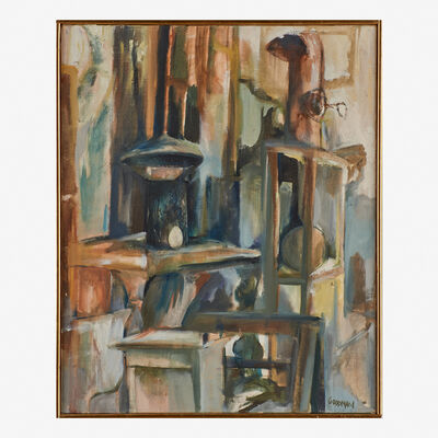 Sidney Goodman, 'Untitled (Interior with Stove Pipes)'