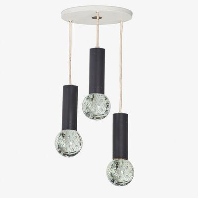 Gino Sarfatti, 'Set of three hanging pendant lamps, Italy', 1950s