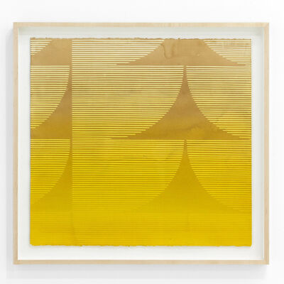 """Kelly Ording, '""""Eight Answers to a Problem (Yellow)""""', 2018"""
