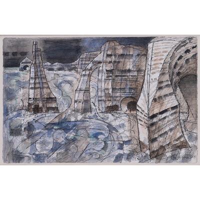 Marcel Gromaire, 'Etretat, les trois falaises', 1953